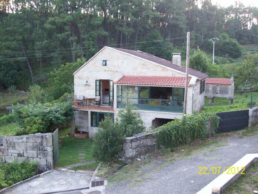 Vista delantera de la casa